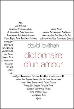 Dictionnaire d'un amour - David Levithan